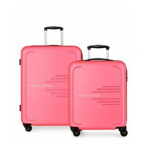 SET DE VALISES Lot de 2 valises rigides 55-69 Movom Flash rose -5