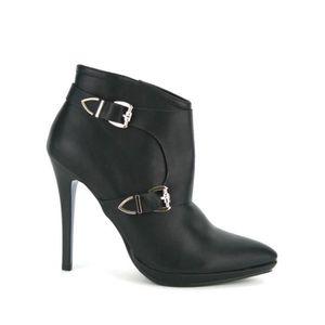 BOTTINE Bottines Noir Chaussures Femme, Cendriyon