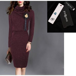 0b95cfd556e PULL FindDress Robe Pull Hiver Femme Manches Longues Dé