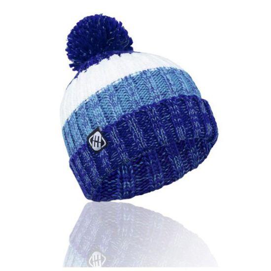 Freegun Bonnet Homme Pompom Grosse Maille Bleu - Achat   Vente ... f2b6773d223