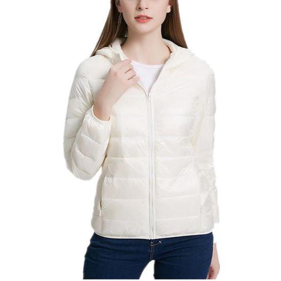 Outdoor Sport Doudoune Et blanc D'hiver Légère Femme Blouson Compressible D'automne aSxw5Evgq