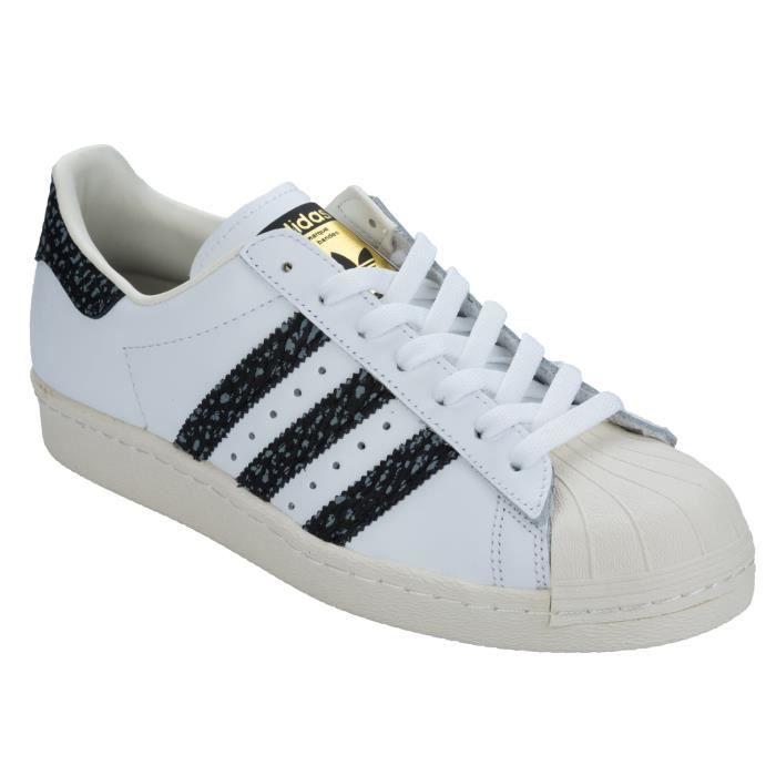 Baskets adidas Originals Superstar 80s pour Hommes en Blanc