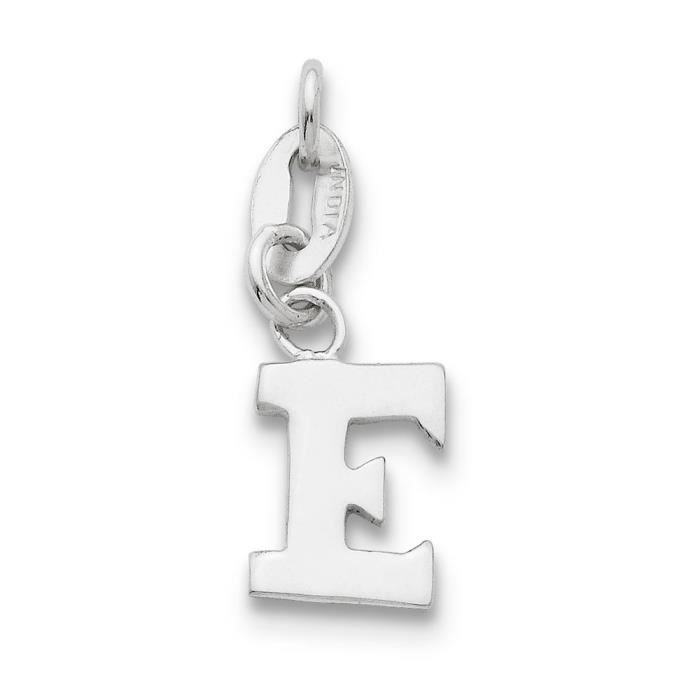 Argent 925–Pendentif initiale E