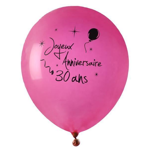 8 ballons joyeux anniversaire 30 ans rose - Joyeux Anniversaire 8 Ans