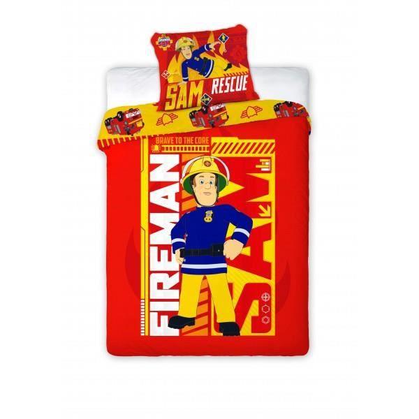 parure de lit sam le pompier rescue - achat / vente parure de drap