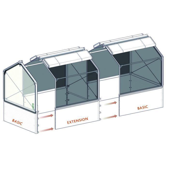 Extension pour serre surélevé de 30 cm growcamp... - Achat / Vente ...
