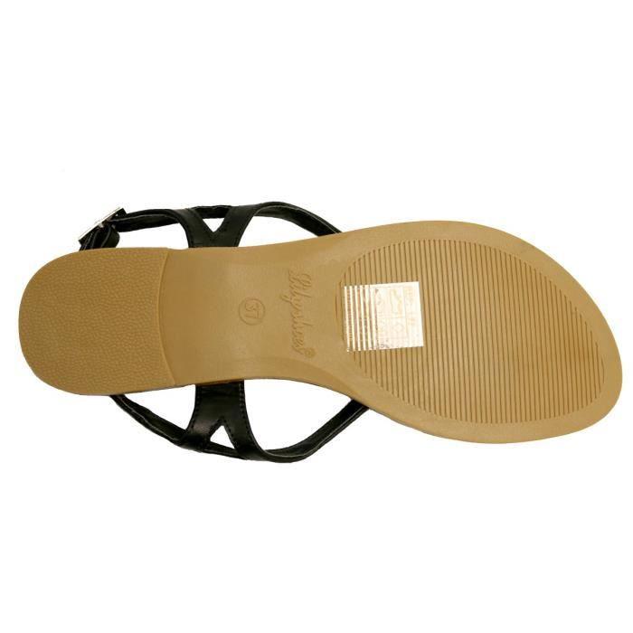 Nu-pieds femme noir