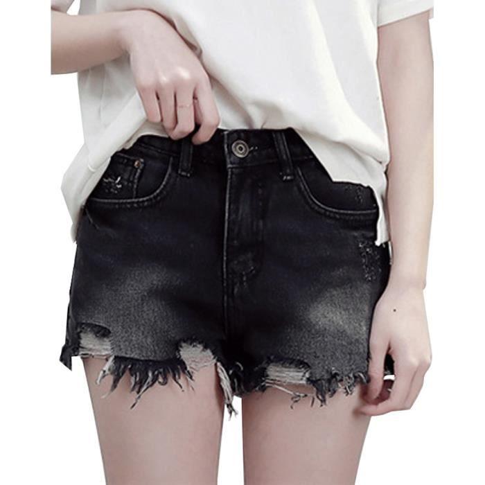 Shorts Court Haute Taille Denim Ete Femme Short Pantalons Troué Été Mode Minetom Jean Femme Vintage De Plage 7tSxYq0