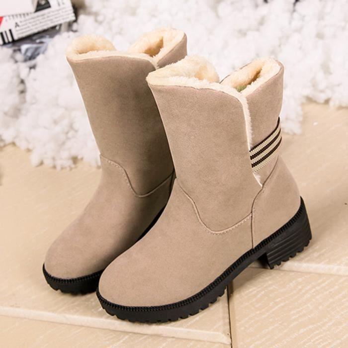 Deessales@Bottes d'hiver bottes de femmes chaudes Bottines chaudes chaussures d'hiver WY128906