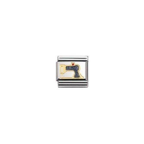 Nomination 030208 - Maillon Pour Bracelet Composable - Femme - Acier Inoxydable Et Or Jaune 18 Cts MFNNG