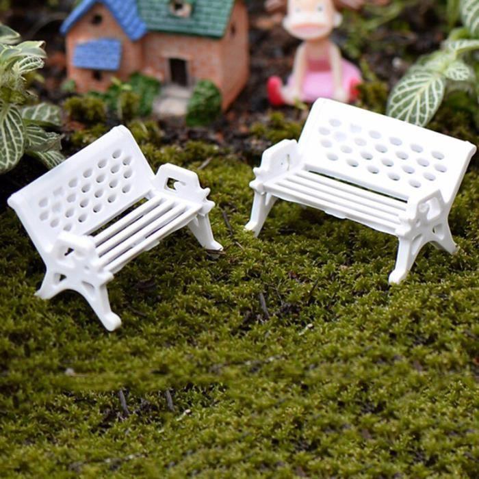 1pcs Chaise Blanche Miniature No L Plastique Bricolage F E