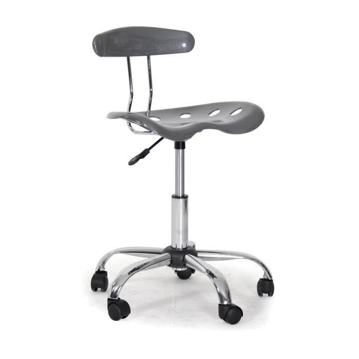 chaise de bureau roulettes marie grise achat vente chaise de bureau gris black friday le. Black Bedroom Furniture Sets. Home Design Ideas