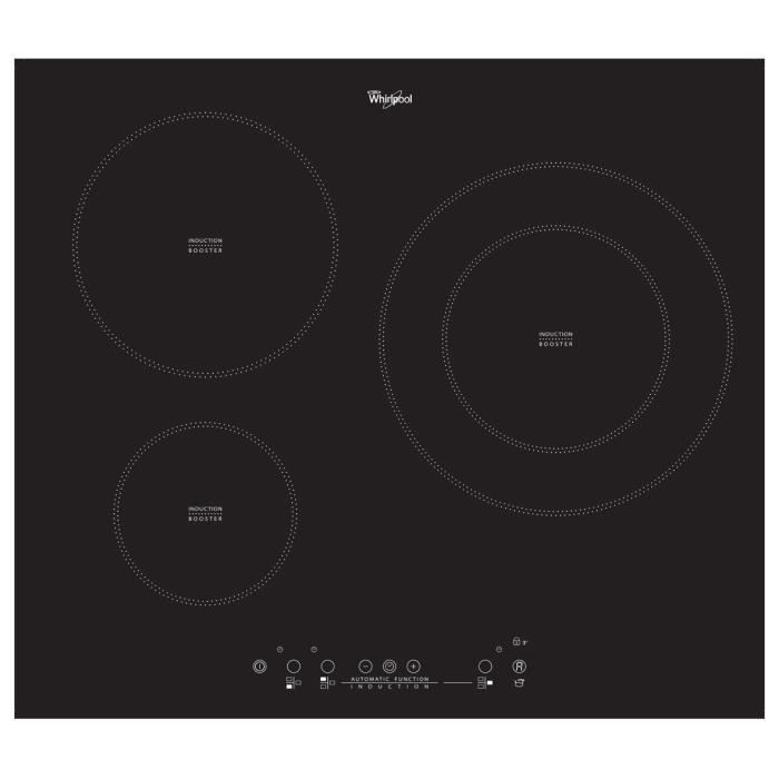 plaque induction whirlpool acm787ne 3 foyers induction. Black Bedroom Furniture Sets. Home Design Ideas
