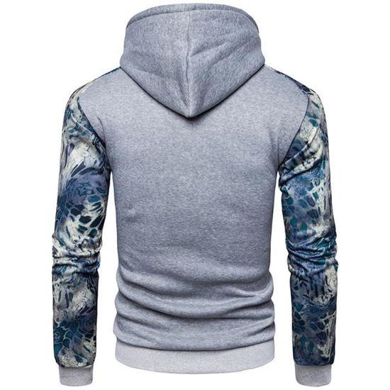Encapuchonné Veste Mode Blouson Sweat Homme Casual Manche amp;automne; Impression Couleur Printemps Hit Jacket Version Angleterre nqnRwt7P