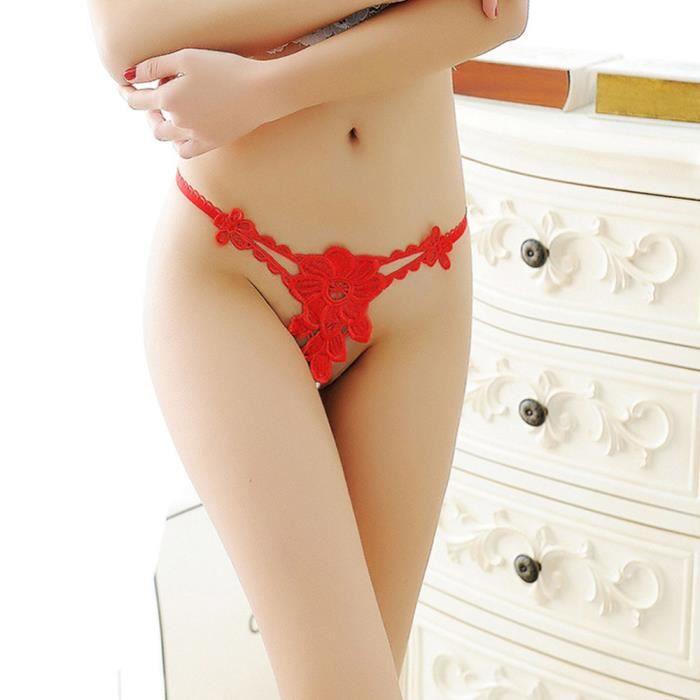Pantalon Mot Culottes Briefs Sous String Sexy Bragas Rouge Femmes Pour vêtements Dentelle wSpIY1q