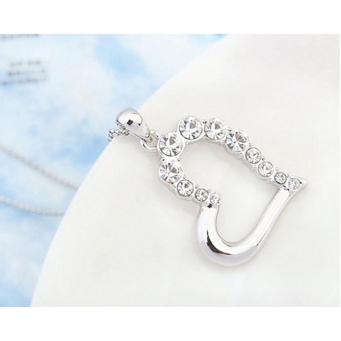 Les cristaux Swarovski femmes Coeur de diamant - amour - valentine collier pendentif. Mode Wear Daily - partie Q4AES