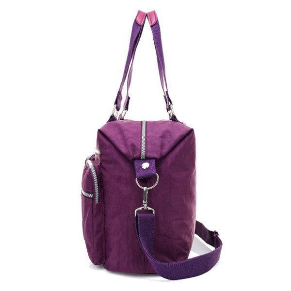SBBKO2695Femmes Multi Front Pockets Tote Sacs à main Casual Sacs bandoulière Light Waterproof Crossbody Bags Rose rouge