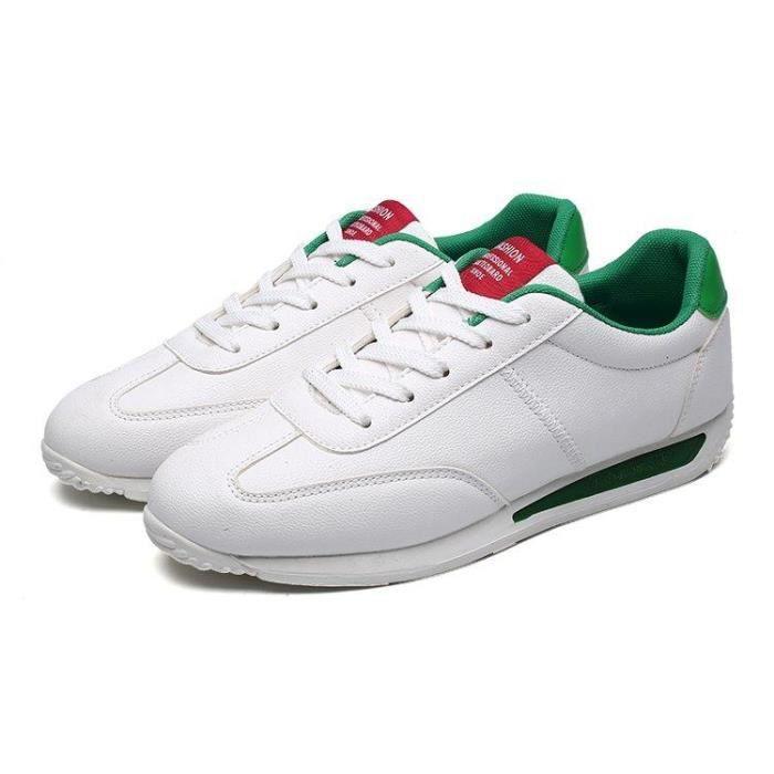 R96041254 Tennis Gym Douceur Chaussures 39 Blanc à De Homme 1702 vert Lacets D'éTé BafqqTPw
