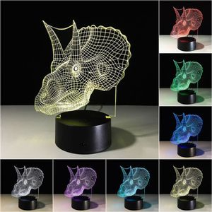 LAMPE A POSER Dinosaures 3D Night Light Table lampe de bureau 7