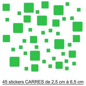 STICKERS 45 Stickers Carrés Autocollant Déco Salle De Bain