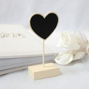 DÉCORATION DE TABLE 6 Marque-place ivoire ardoise cœur, bonbonnière ma