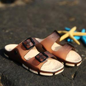 Summer Beach Hommes Slipper Loisirs caoutchouc Nti-Skid Homme Sandales bIzcD