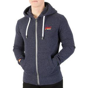 SWEATSHIRT Superdry Homme Veste à capuche Cali Orange Label O 9d0269b9d573