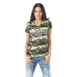 9001382ac474 CASQUETTE Tee-shirt Femme Von Dutch Camouflage