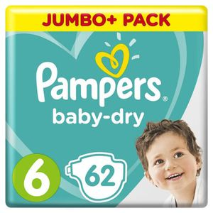 COUCHE Pampers Baby-Dry Taille 6, 13-18 kg, 62 Couches -