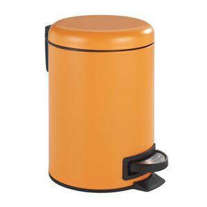 Merveilleux POUBELLE   CORBEILLE Poubelle Cosmétique à Pédale Leman Orange
