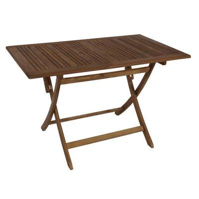 Table rectangulaire pliante salon de jardin 120x70cm bois épicéa ...