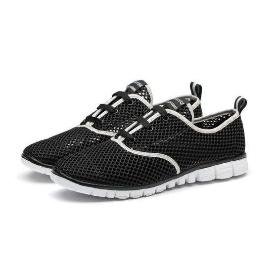 Chaussures homme marque de luxe baskets hommes 2017 casual chaussures homme sport Grande Taille mocassin Confortable Durable Noir Noir - Achat / Vente basket
