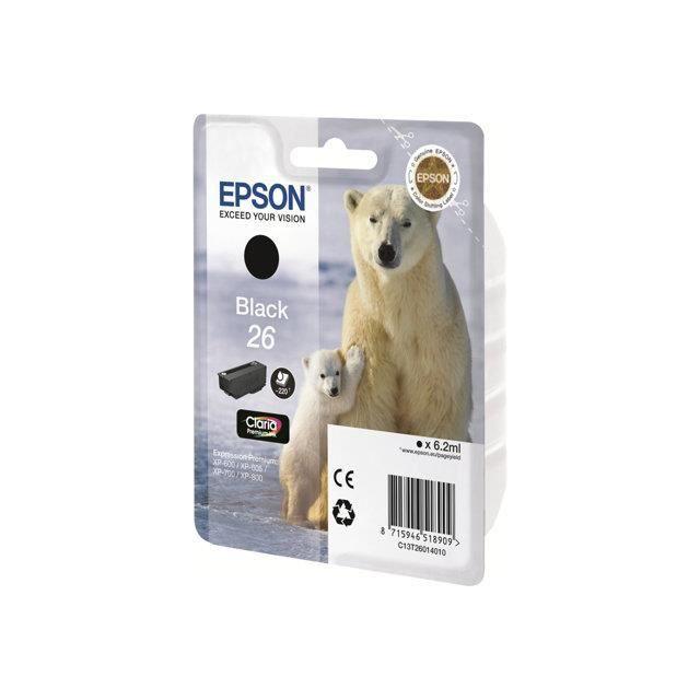 EPSON Pack de 1 cartouche d'encre  - 26 - Cyan - capacité standard 6,2ml - 220 pages blister avec alarme