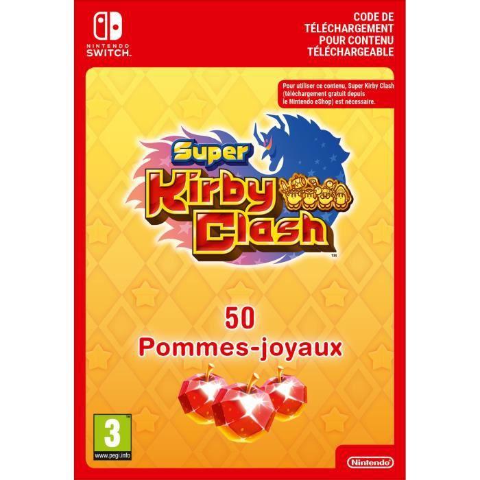 DLC Super Kirby Clash - 50 Pommes-Joyaux - Code de Téléchargement pour Nintendo Switch