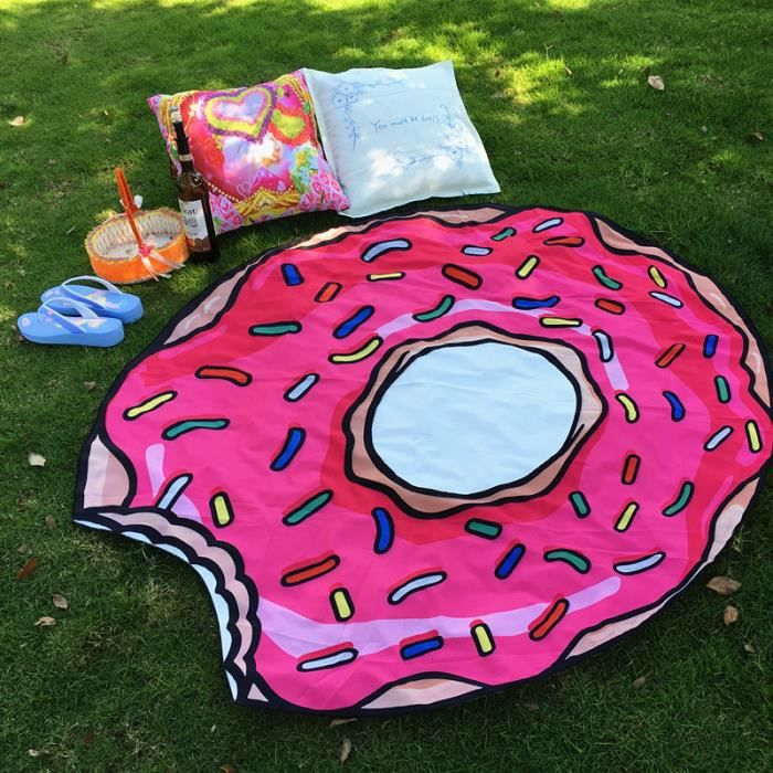 serviette de plage donuts femelle ronde 150cm achat. Black Bedroom Furniture Sets. Home Design Ideas