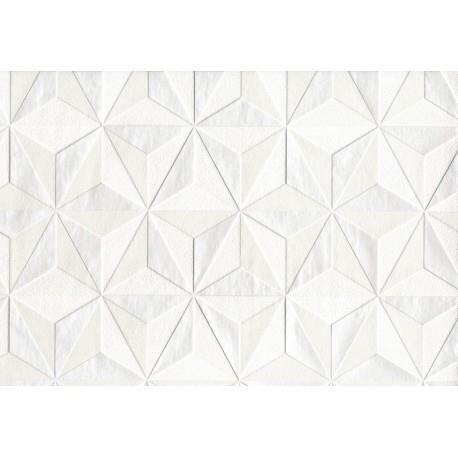 Papier Peint Graine Intisse Origami Blanc Mica 52cm X 10 05m Achat