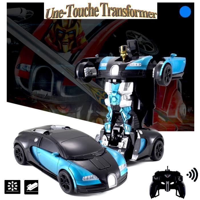 une-touche 360° transformer bugatti veyron télécommandé véhicules