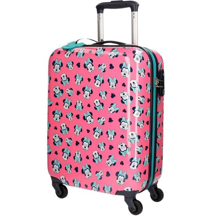 ace617f681 Valise Cabine 4 roues 55cm Fille MINNIE Wink Rose - Achat / Vente ...