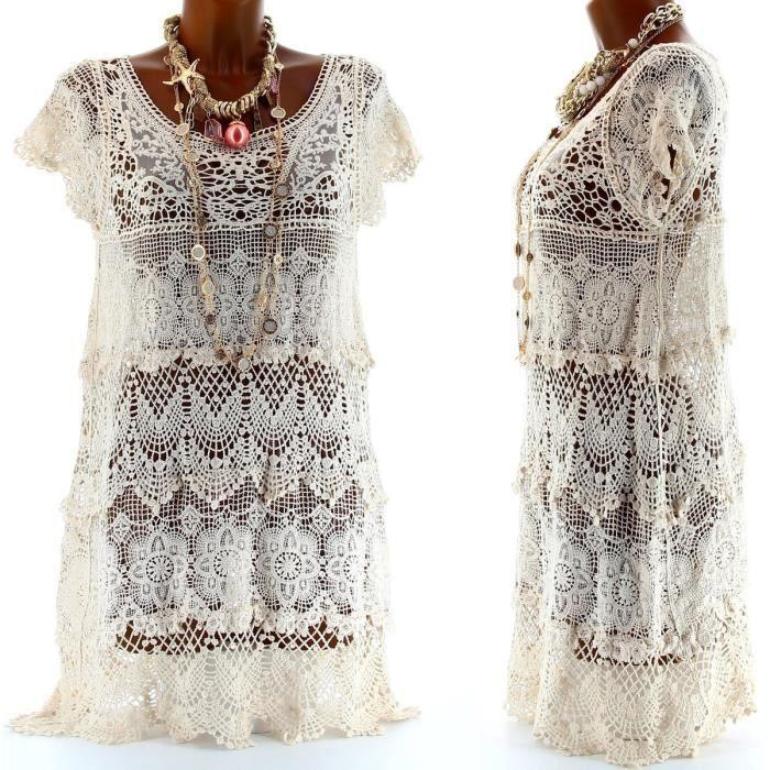 Robe tunique dentelle