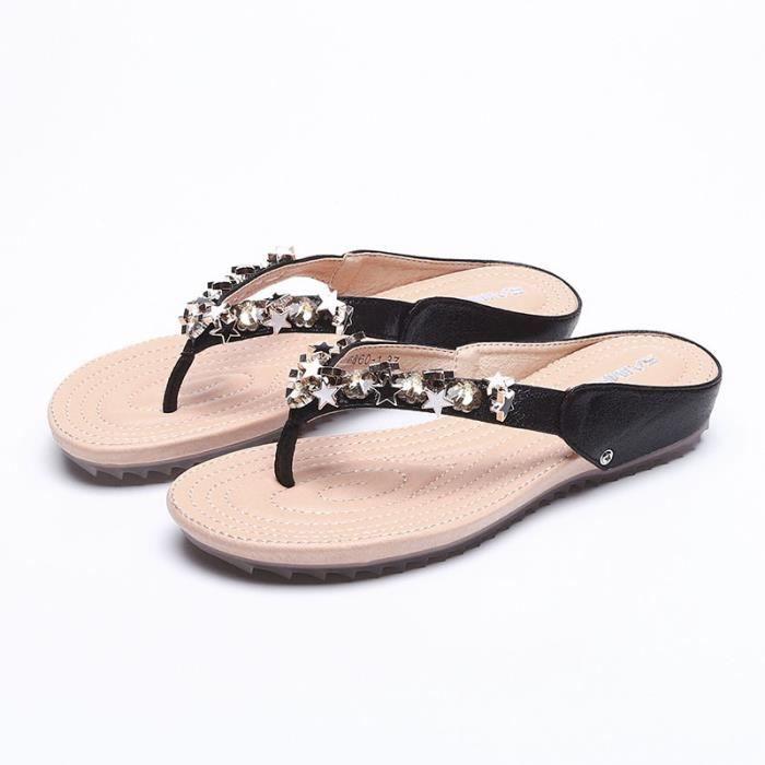 noir Nu Et Sandales Femme pieds Jaune blanc X68qv