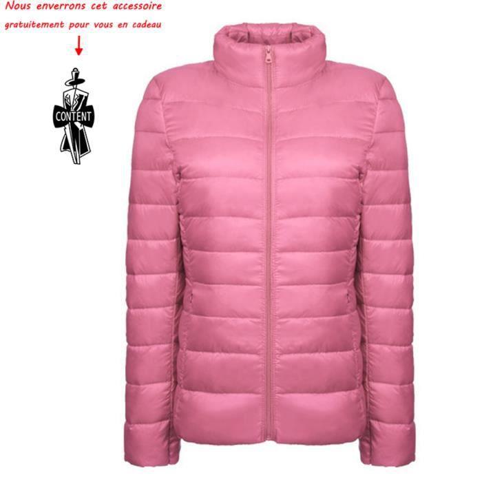 prix incroyable la qualité d'abord prix compétitif Doudoune Femme Veste Col Montant Manteau en Duvet Ultra Léger Blouson pour  de Marque VêTements