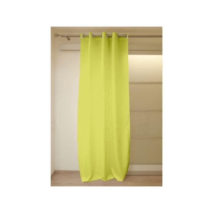 Rideau à; oeillets COSY anis - Achat / Vente rideau Textile, 100 ...