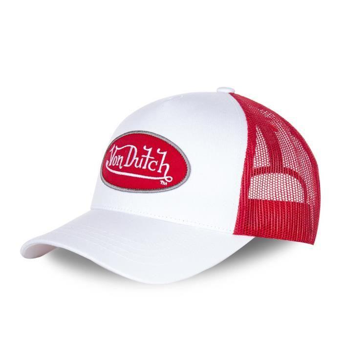 économiser 72fed 7ac29 Casquette baseball homme Von Dutch BM Blanc filet rouge