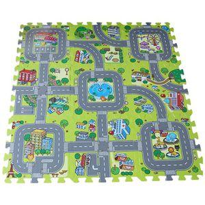 tapis route enfant achat vente tapis route enfant pas cher cdiscount. Black Bedroom Furniture Sets. Home Design Ideas