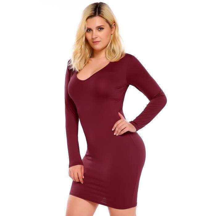 Femmes Robe de soirée Sexy V-Neck