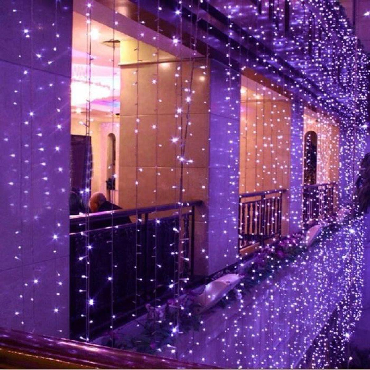 U 8x3m 800led Rideau Lumineux De Noël Lumières Chaîne Mariage