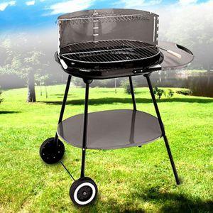 BARBECUE Barbecue bois et charbon avec roulettes