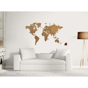 carte du monde en bois achat vente pas cher. Black Bedroom Furniture Sets. Home Design Ideas