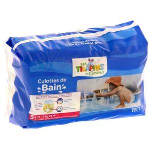 COUCHE LES TILAPINS Couches de Bain Taille 5 x11