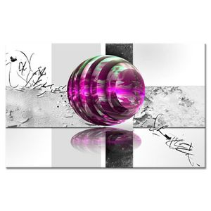 TABLEAU - TOILE Tableau Déco Abstraite Bille Design - Abstrait  -